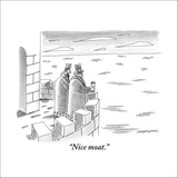 """""""Nice moat."""" - New Yorker Cartoon Stretched Canvas Print by Mick Stevens"""