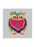 Cute Owl, Cartoon Drawing, Cute Illustration for Children, Vector Illustrations (Hipster Symbol Ser Posters by De Visu