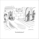 """One blackbird pizza?"" - New Yorker Cartoon Stretched Canvas Print by Mick Stevens"