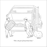 """""""This is the part of the job that I hate."""" - New Yorker Cartoon Stretched Canvas Print by Alex Gregory"""