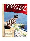 "Vogue Cover - January 1932 Metal Print by Carl ""Eric"" Erickson"