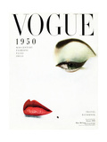 Vogue Cover - January 1950 Metal Print by Erwin Blumenfeld
