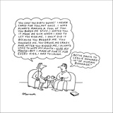 Woman quoting to man. - New Yorker Cartoon Stretched Canvas Print by Charles Barsotti