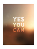Quote Typographical Background, Vector Design. Yes, You Can. Blurred Abstract Background Prints by Ozerina Anna