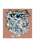 Owl, Symbol of Halloween, Vector Illustration. Illustration for T-Shirt. Prints by De Visu