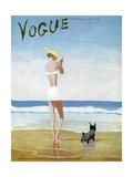 Vogue Cover - July 1937 Metal Print by Eduardo Garcia Benito