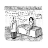 """""""Edna's Doctor Fantasy"""" - New Yorker Cartoon Stretched Canvas Print by Roz Chast"""