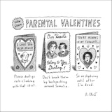 Parental Valentines Day Cards - New Yorker Cartoon Stretched Canvas Print by Roz Chast