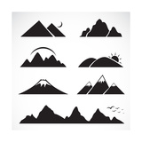 Set of Mountain Icons Premium Giclee Print by  yod67