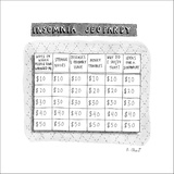 Insomnia Jeopardy - New Yorker Cartoon Stretched Canvas Print by Roz Chast