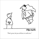 """""""That's great, but you still have to walk more."""" - New Yorker Cartoon Stretched Canvas Print by Charles Barsotti"""