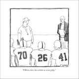 """O'Brien, here, has written us a new play."" - New Yorker Cartoon Stretched Canvas Print by Matthew Diffee"
