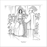 """You'll do."" - New Yorker Cartoon Stretched Canvas Print by Michael Crawford"