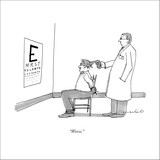 """""""Worse."""" - New Yorker Cartoon Stretched Canvas Print by Michael Crawford"""