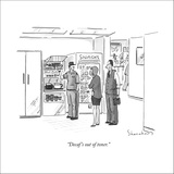 """Decaf's out of toner."" - New Yorker Cartoon Stretched Canvas Print by Danny Shanahan"