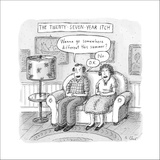 The 27-Year-Itch - New Yorker Cartoon Stretched Canvas Print by Roz Chast