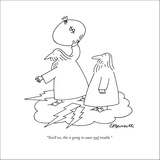 """""""You'll see, this is going to cause real trouble."""" - New Yorker Cartoon Stretched Canvas Print by Charles Barsotti"""