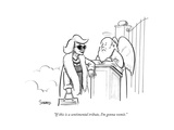 """If this is a sentimental tribute, I'm gonna vomit."" - New Yorker Cartoon Giclee Print by Benjamin Schwartz"