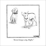 """Kennel changes a dog, Muffin."" - New Yorker Cartoon Stretched Canvas Print by Matthew Diffee"