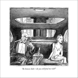 """""""Be honest, babe—do you still find me rich?"""" - New Yorker Cartoon Stretched Canvas Print by Matthew Diffee"""
