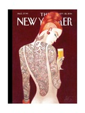 Back Story - The New Yorker Cover, September 22, 2014 Regular Giclee Print by Lorenzo Mattotti