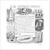 The Ultimate Contract - New Yorker Cartoon Stretched Canvas Print by Roz Chast