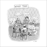 Worry Tank - New Yorker Cartoon Stretched Canvas Print by Roz Chast