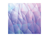Abstract 3D Blue Vector Background Made from Triangles Posters by  orson