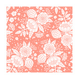 Seamless Vintage Pattern with Decorative Flowers. Premium Giclee Print by  Baksiabat