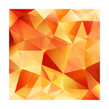 Orange Crystal Vector Abstract Pattern Prints by  art_of_sun