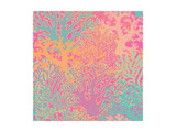 Bright Underwater Seamless Pattern with Beautiful Corals. Stylish Abstract Seamless Pattern in Vect Posters by  smilewithjul