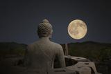 Borobudur Night Fotografisk tryk af B.B. Xie