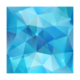 Blue Abstract Shining Ice Vector Background Posters by  art_of_sun