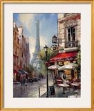 Tour De Eiffel View Print by Brent Heighton