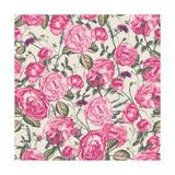 Beautiful Vintage Seamless Roses Background Prints by Varvara Kurakina