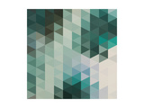 Vector Abstract Triangles Background Posters by Maksim Krasnov