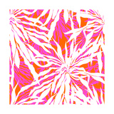 Seamless Pattern with Tropical Palm Leaves Premium Giclee Print by  tukkki