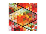 Vector Triangles Pattern Prints by Maksim Krasnov