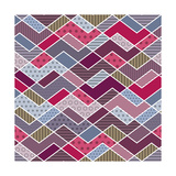 Abstract Geometric Patchwork Pattern Prints by  natbasil