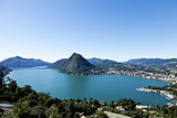 Lake Lugano, Panoramic View from the Top, Switzerland Photographic Print by  zveiger