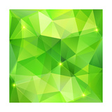 Green Abstract Crystal Vector Background Art by  art_of_sun