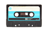 Audio Cassette Isolated on White Poster by  Zibedik