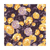 Beautiful Vintage Seamless Roses Background Premium Giclee Print by Varvara Kurakina