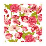 Vintage Seamless Roses Background Prints by Varvara Kurakina