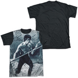 Bruce Lee - Whoooaa Black Back T-Shirt