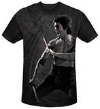 Bruce Lee - Dragon Print Black Back T-shirts