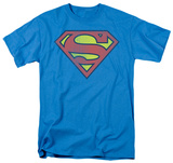 Superman - Retro Supes Logo Distressed T-Shirt