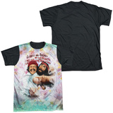 Cheech & Chong - Fried Tie Dyed Black Back Sublimated