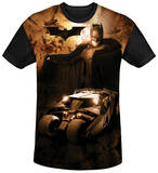 Batman Begins - Batsmobile Black Back Shirt