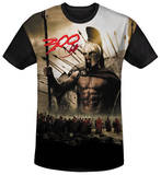 300 - Spartans Black Back T-Shirt